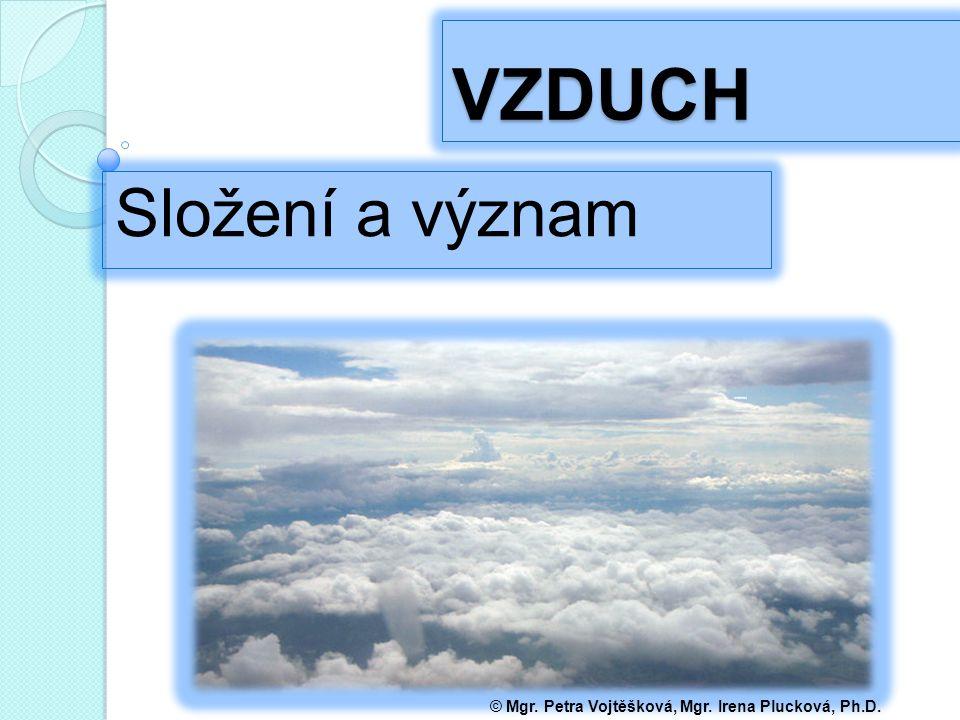 VZDUCH Složení a význam © Mgr. Petra Vojtěšková, Mgr. Irena Plucková, Ph.D.