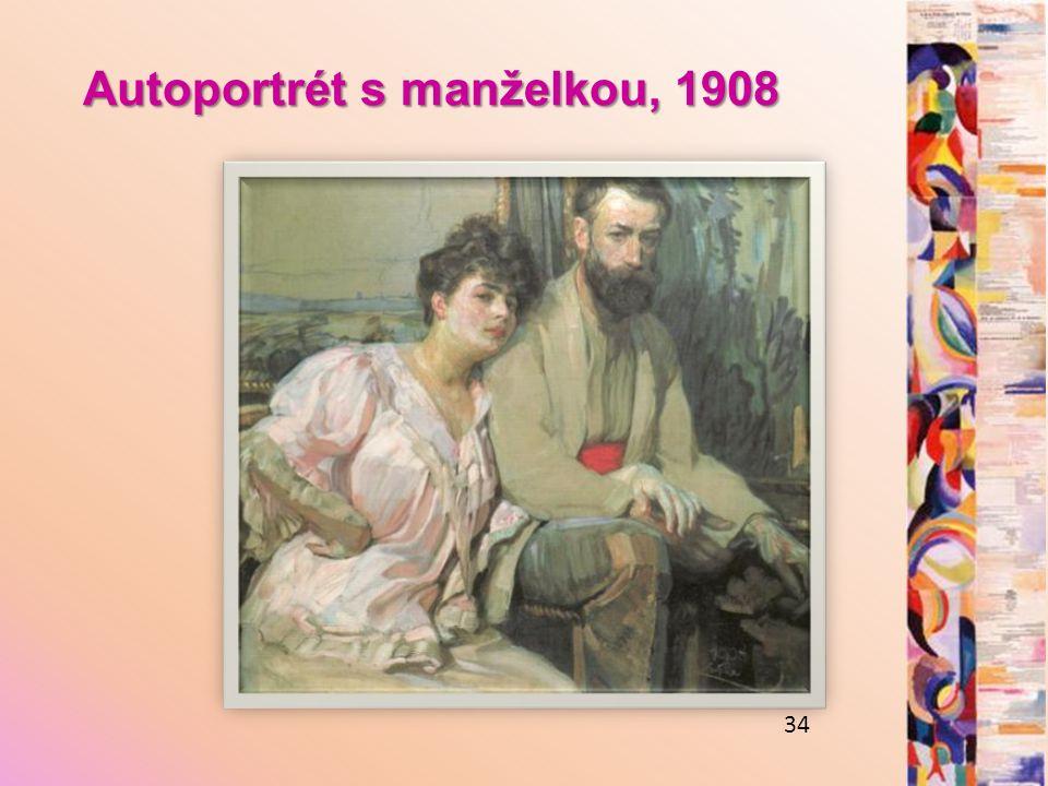 Autoportrét s manželkou, 1908 34