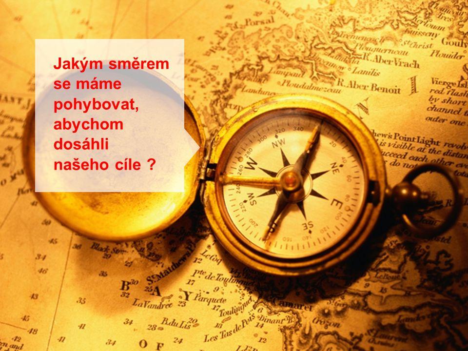 14 Jakým směrem se máme pohybovat, abychom dosáhli našeho cíle ?