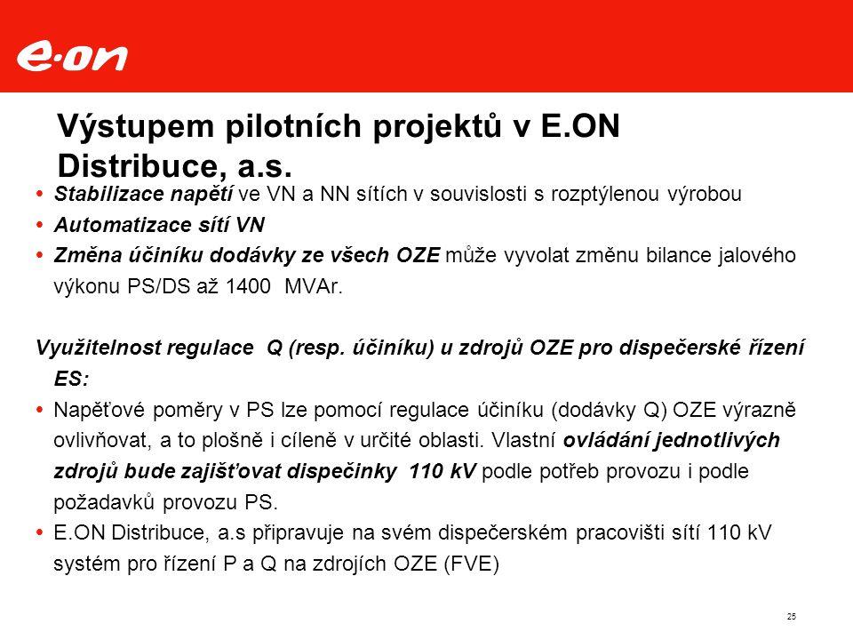 25 Výstupem pilotních projektů v E.ON Distribuce, a.s.