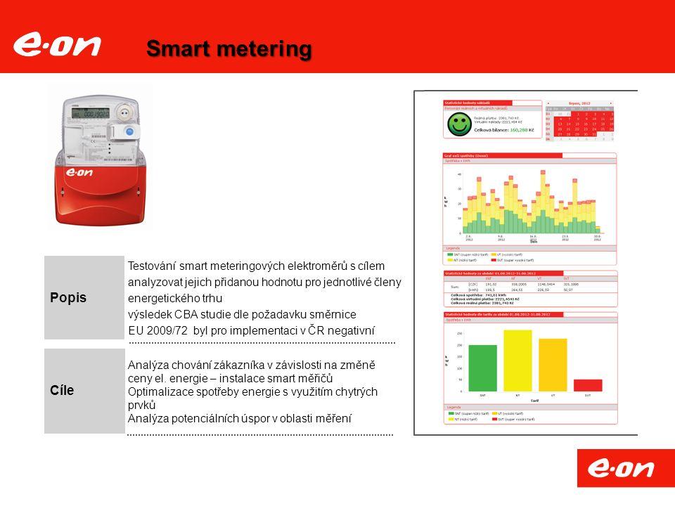 Smart metering Popis Analýza chování zákazníka v závislosti na změně ceny el.