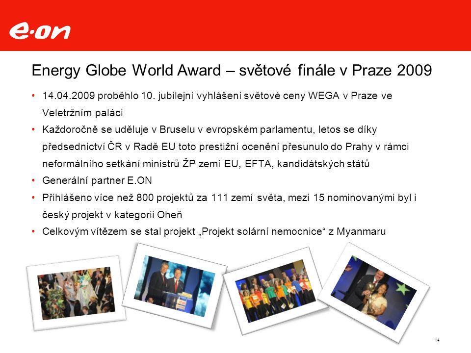 Energy Globe World Award – světové finále v Praze 2009 14.04.2009 proběhlo 10.