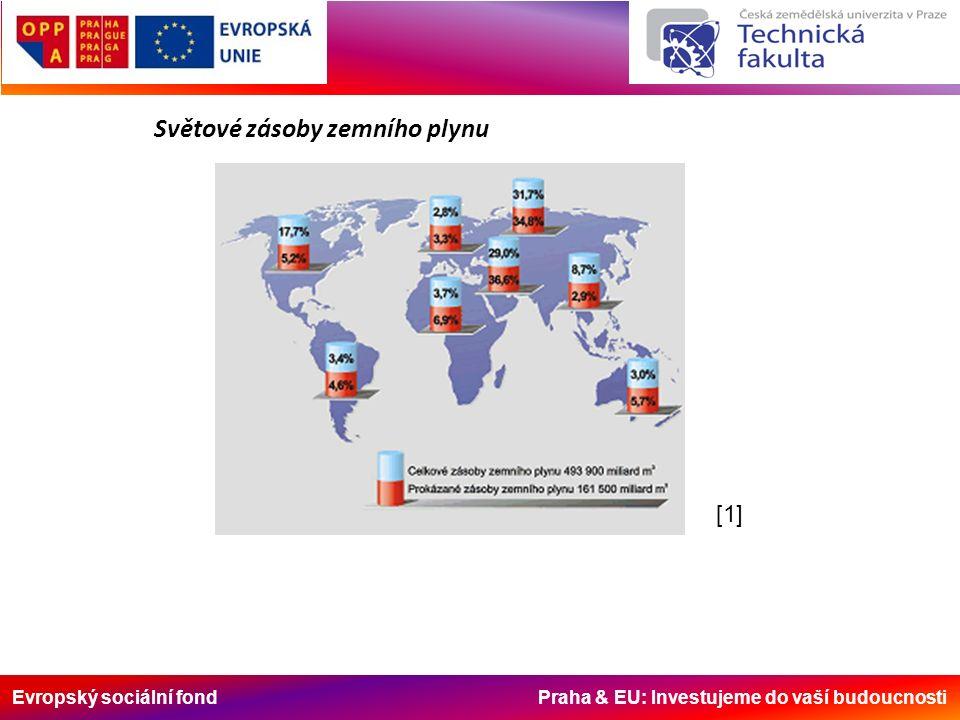 Evropský sociální fond Praha & EU: Investujeme do vaší budoucnosti [1] Světové zásoby zemního plynu