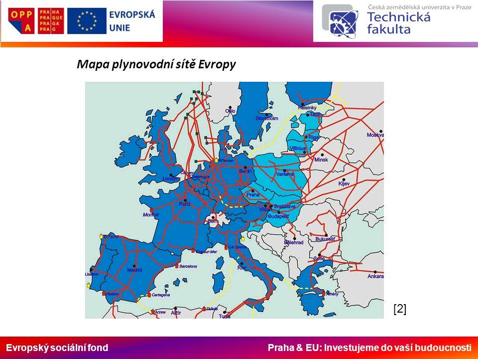 Evropský sociální fond Praha & EU: Investujeme do vaší budoucnosti [2][2] Mapa plynovodní sítě Evropy