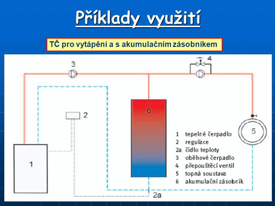 Příklady využití TČ pro vytápění a s akumulačním zásobníkem
