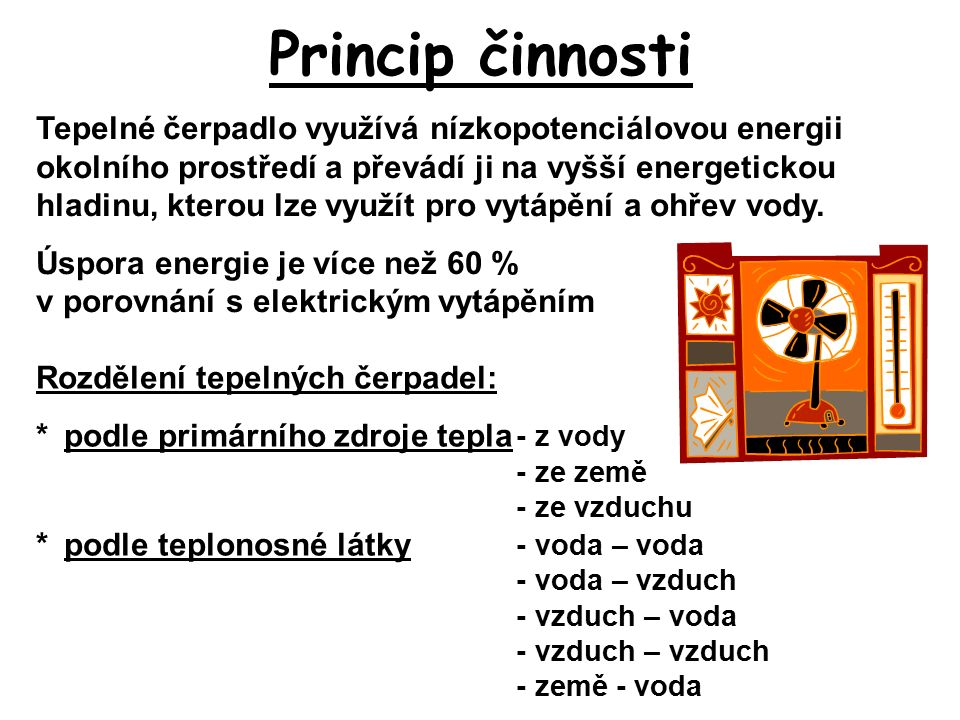 Provedení TČ vzduch - voda 3.