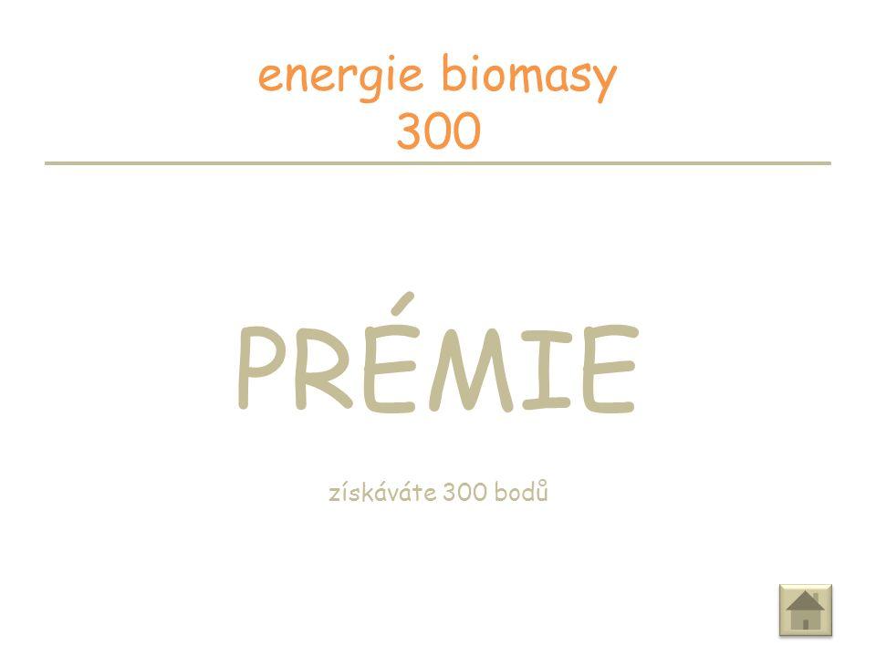 Je biomasa obnovitelný zdroj energie.