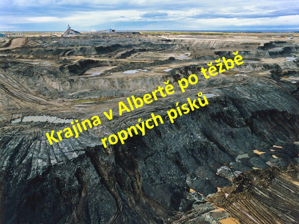 Krajina v Albertě po těžbě ropných písků