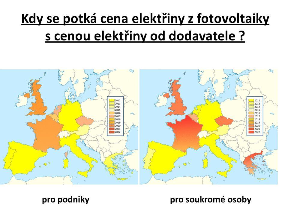 Kdy se potká cena elektřiny z fotovoltaiky s cenou elektřiny od dodavatele .