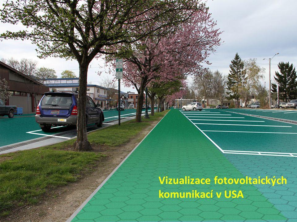 Vizualizace fotovoltaických komunikací v USA