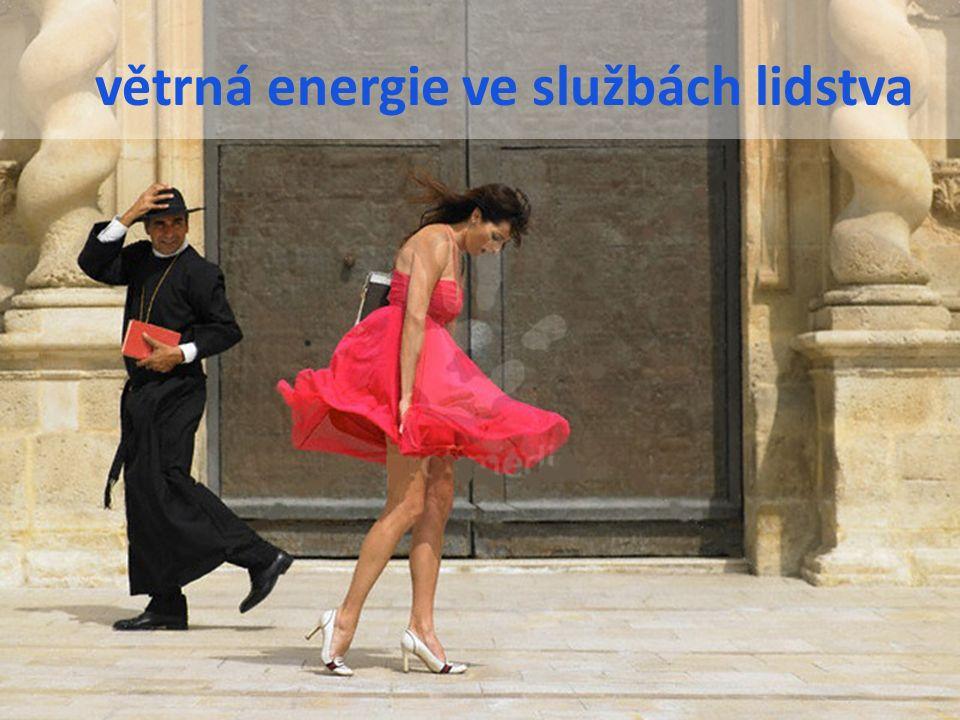 větrná energie ve službách lidstva