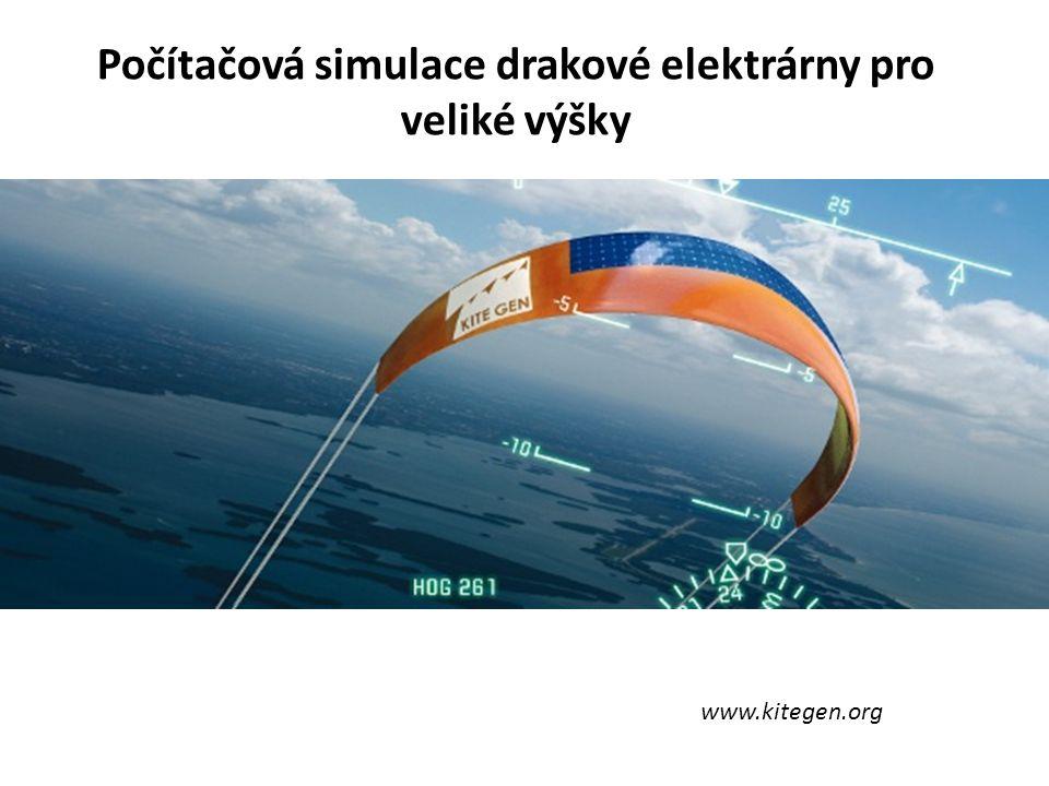 Počítačová simulace drakové elektrárny pro veliké výšky www.kitegen.org