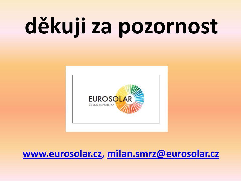 děkuji za pozornost www.eurosolar.czwww.eurosolar.cz, milan.smrz@eurosolar.czmilan.smrz@eurosolar.cz