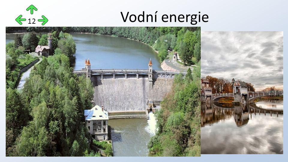 podle výkonu rozlišujeme tzv. velké vodní elektrárny a malé vodní elektrárny vodní elektrárny jsou v tuzemsku v současnosti mezi obnovitelnými zdroji