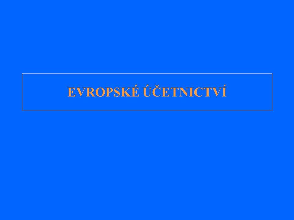 Charakteristika předmětu Harmonizace účetnictví Direktivy EU, Mezinárodní standardy účetního výkaznictví