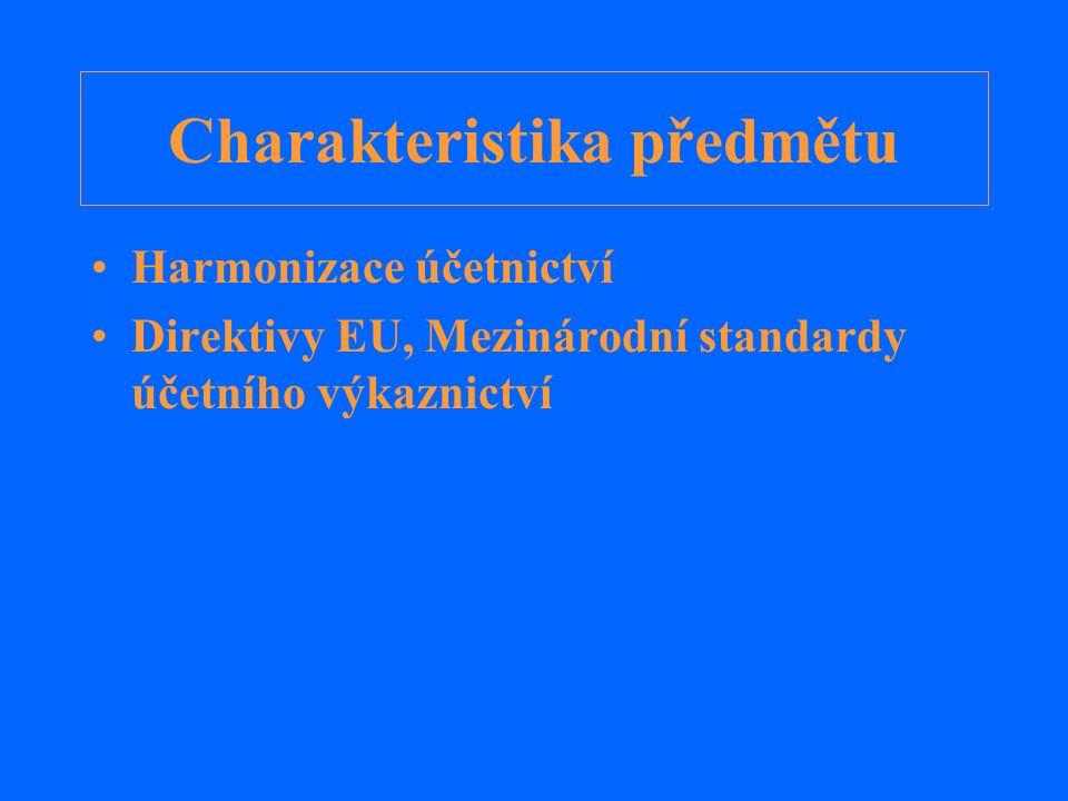 Regulace a harmonizace Regulace Regulace v ČR Co je harmonizace