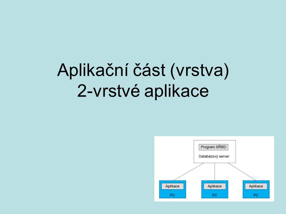 Aplikační část (vrstva) 2-vrstvé aplikace