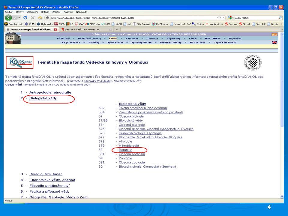 15 bibliografický záznam autoritní záznam propojení, hypertextový link