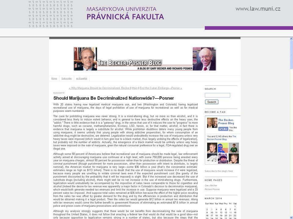 www.law.muni.cz 23KŘÍŽKA, Vít: Ekonomická analýza práva