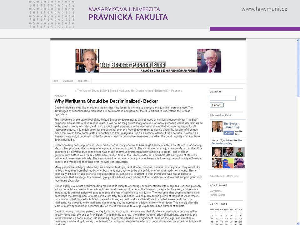 www.law.muni.cz 24KŘÍŽKA, Vít: Ekonomická analýza práva