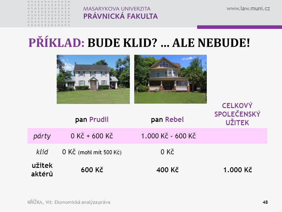 www.law.muni.cz PŘÍKLAD: BUDE KLID. … ALE NEBUDE.