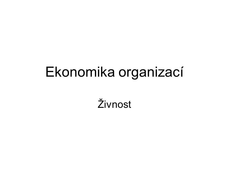 Ekonomika organizací Živnost