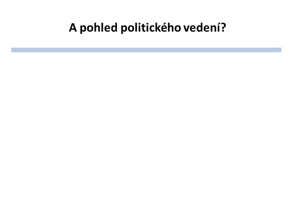 A pohled politického vedení?