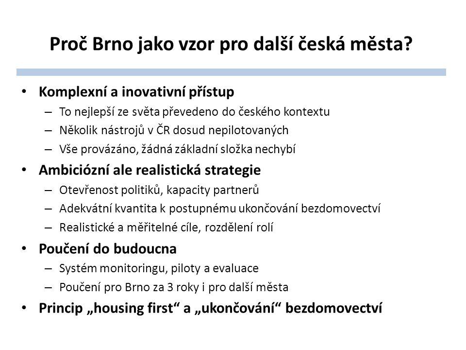 Proč Brno jako vzor pro další česká města? Komplexní a inovativní přístup – To nejlepší ze světa převedeno do českého kontextu – Několik nástrojů v ČR