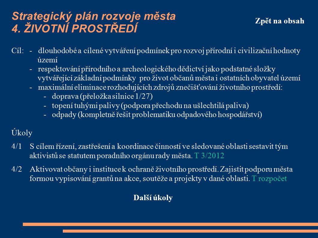 Strategický plán rozvoje města 4.