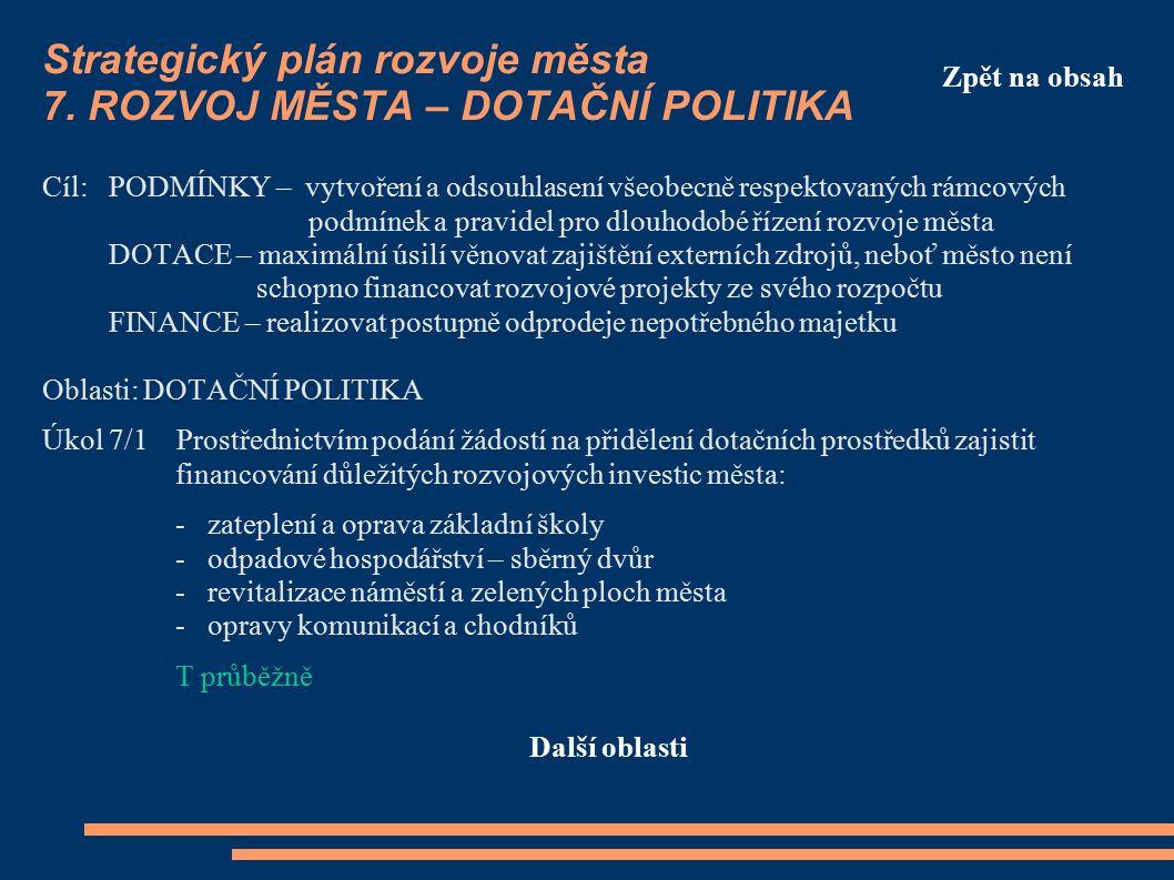 Strategický plán rozvoje města 7.