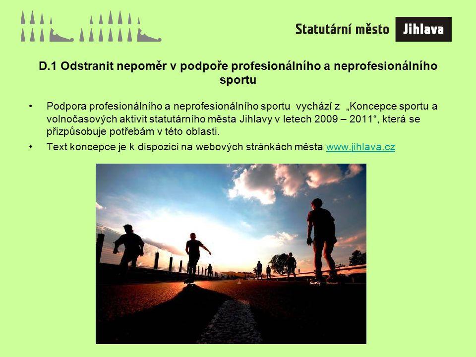 E.1 Vytvořit dostupné bydlení pro potřebné (startovací, sociální, zdravotně postižení občané).