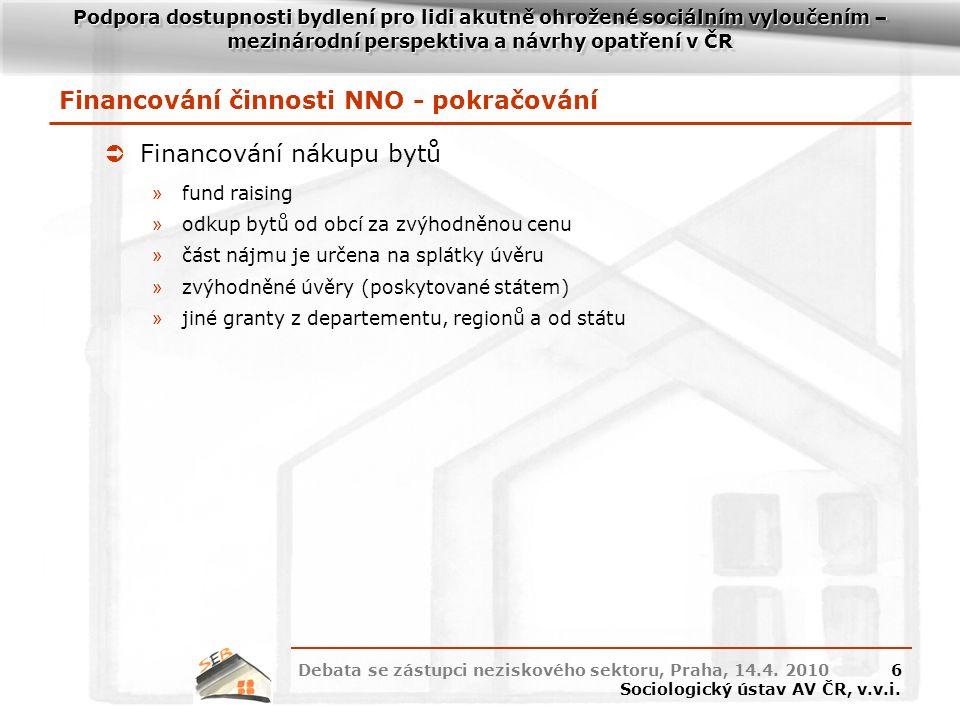 Oddělení socioekonomie bydlení Sociologický ústav AV ČR, v.v.i. Děkuji za pozornost.