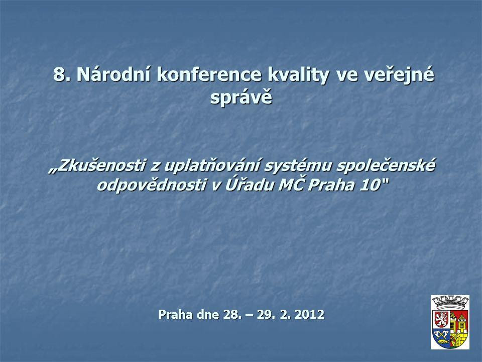 8. Národní konference kvality ve veřejné správě 8.