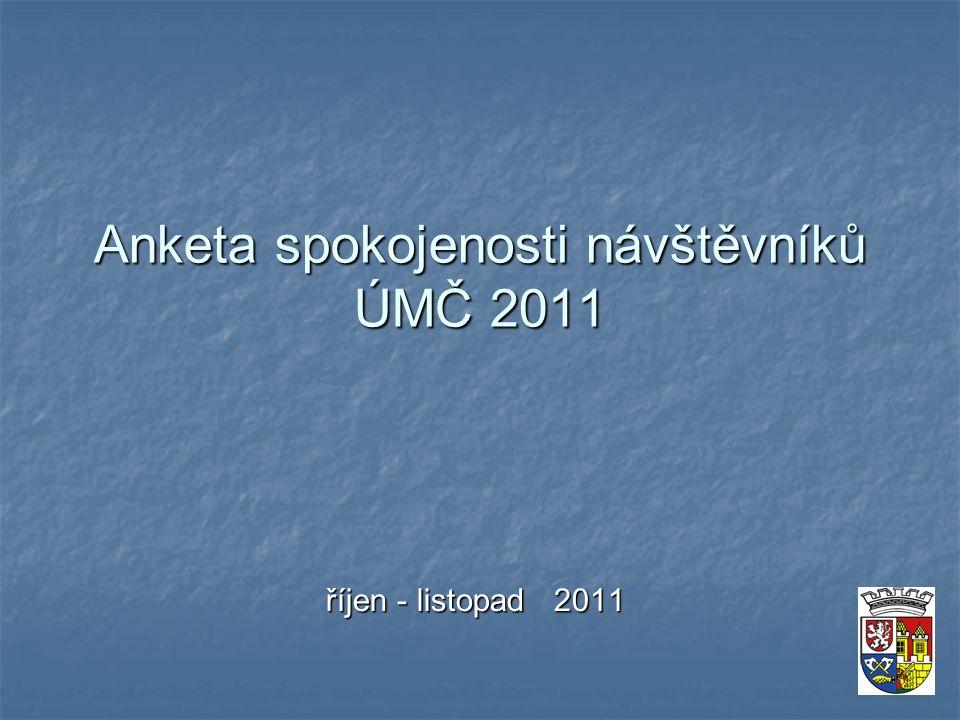 Anketa spokojenosti návštěvníků ÚMČ 2011 říjen - listopad 2011