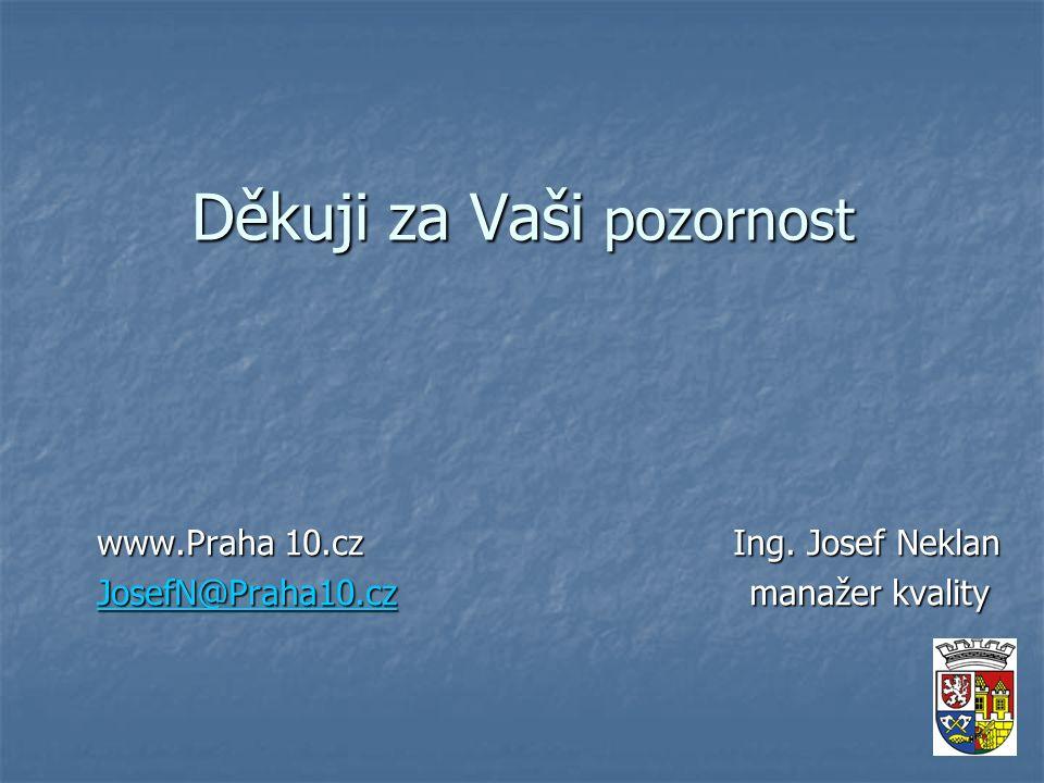 Děkuji za Vaši pozornost www.Praha 10.cz Ing.