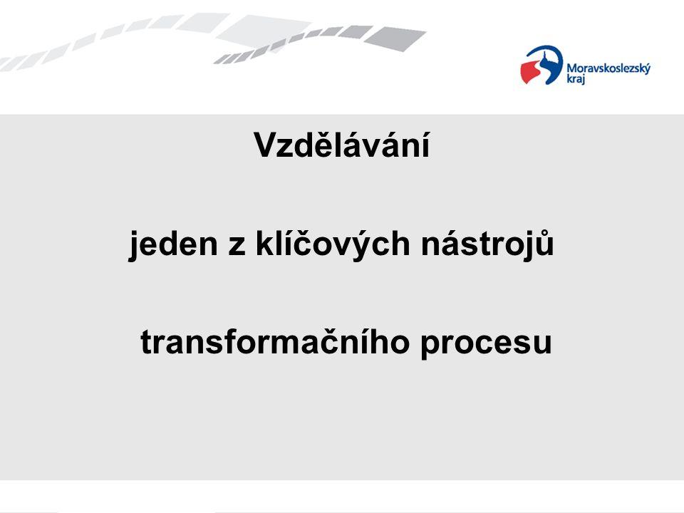Vzdělávání jeden z klíčových nástrojů transformačního procesu