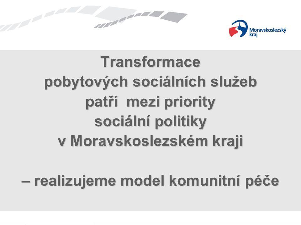 Transformace pobytových sociálních služeb patří mezi priority sociální politiky v Moravskoslezském kraji – realizujeme model komunitní péče