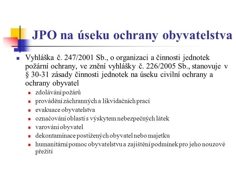 JPO na úseku ochrany obyvatelstva Vyhláška č.