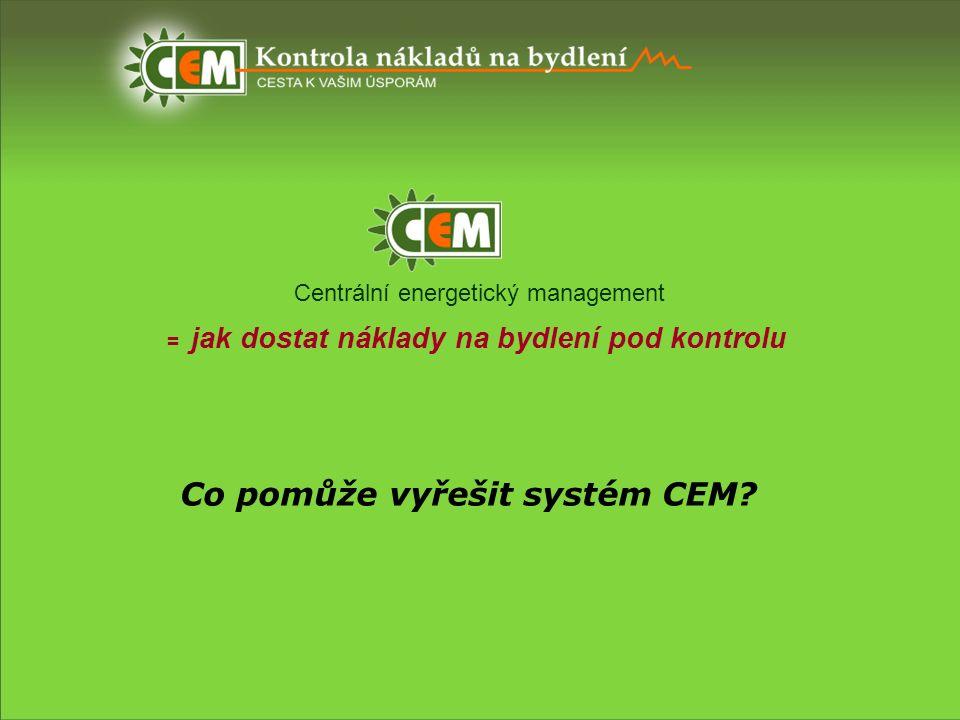 Centrální energetický management = jak dostat náklady na bydlení pod kontrolu Co pomůže vyřešit systém CEM?