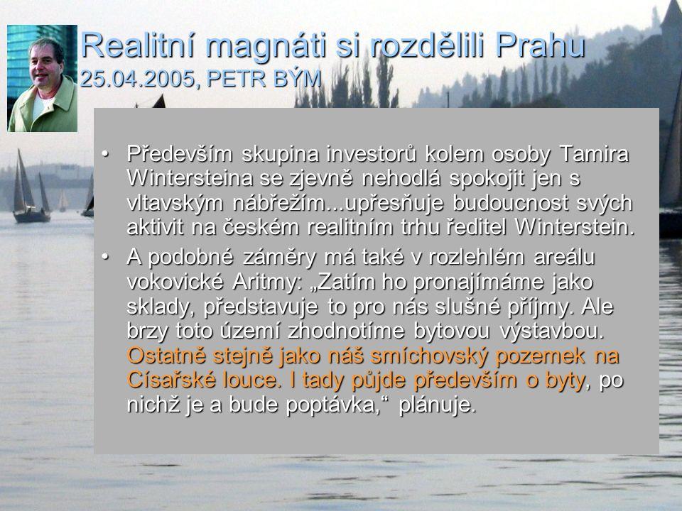 Starosta Milan Jančík 2004 To by potřebovalo pořádnou protipovodňovou ochranu…To by potřebovalo pořádnou protipovodňovou ochranu… Určitě.