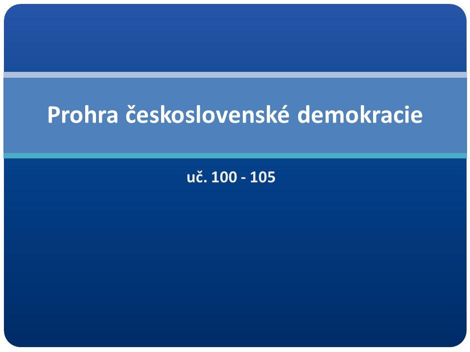 uč. 100 - 105 Prohra československé demokracie