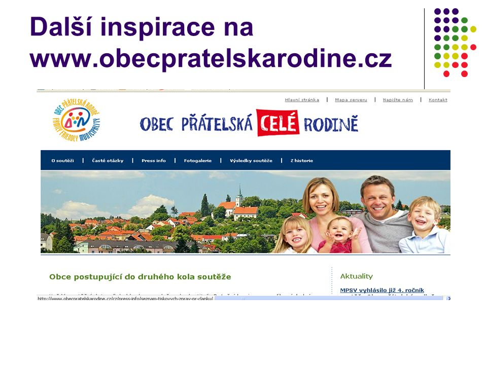 Další inspirace na www.obecpratelskarodine.cz