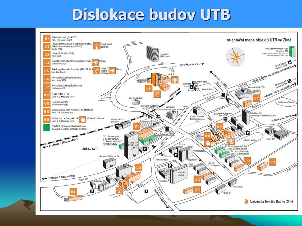 Dislokace budov UTB