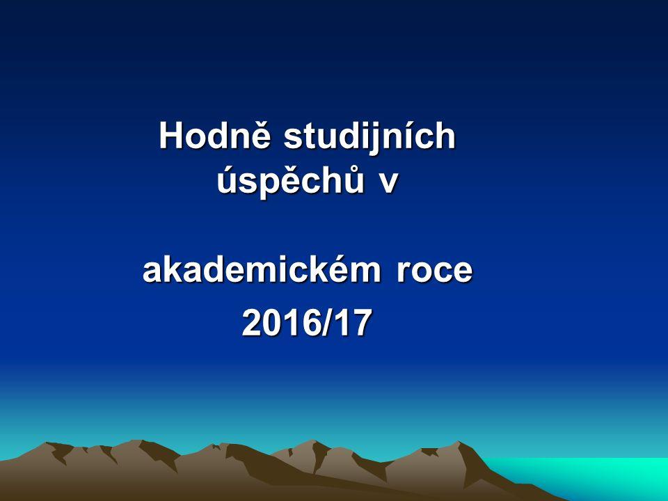 Hodně studijních úspěchů v akademickém roce 2016/17
