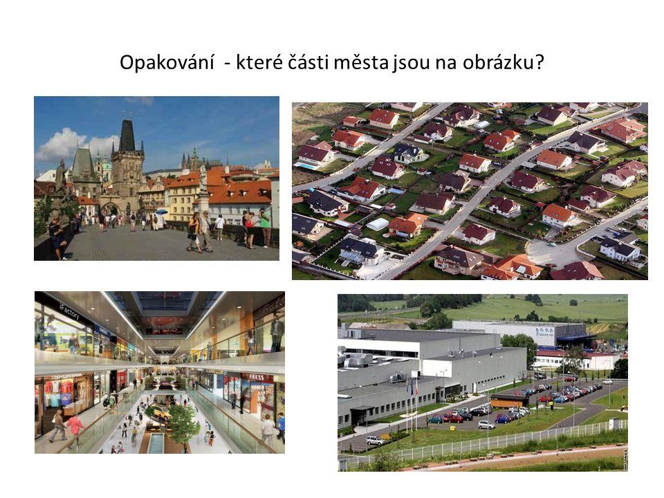 Opakování - které části města jsou na obrázku?