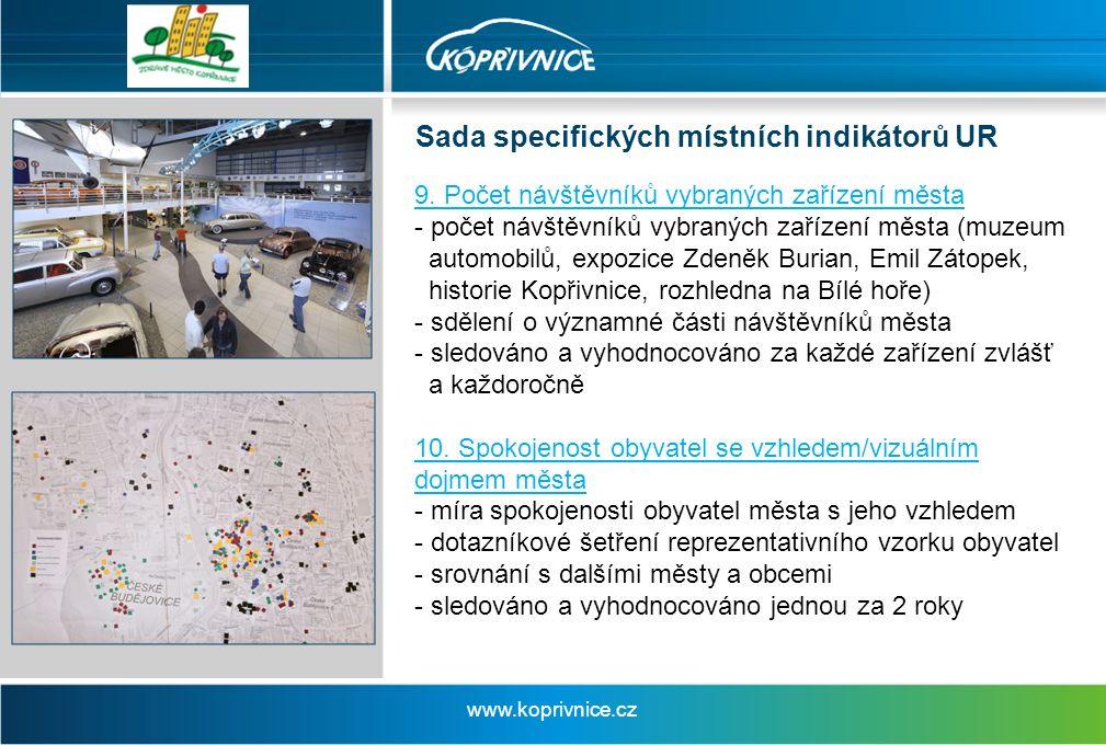 Sada specifických místních indikátorů UR www.koprivnice.cz 9.