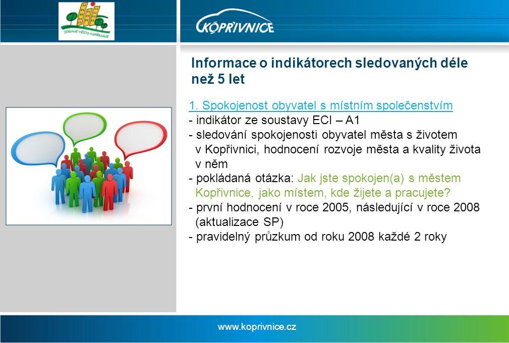 Informace o indikátorech sledovaných déle než 5 let 1.