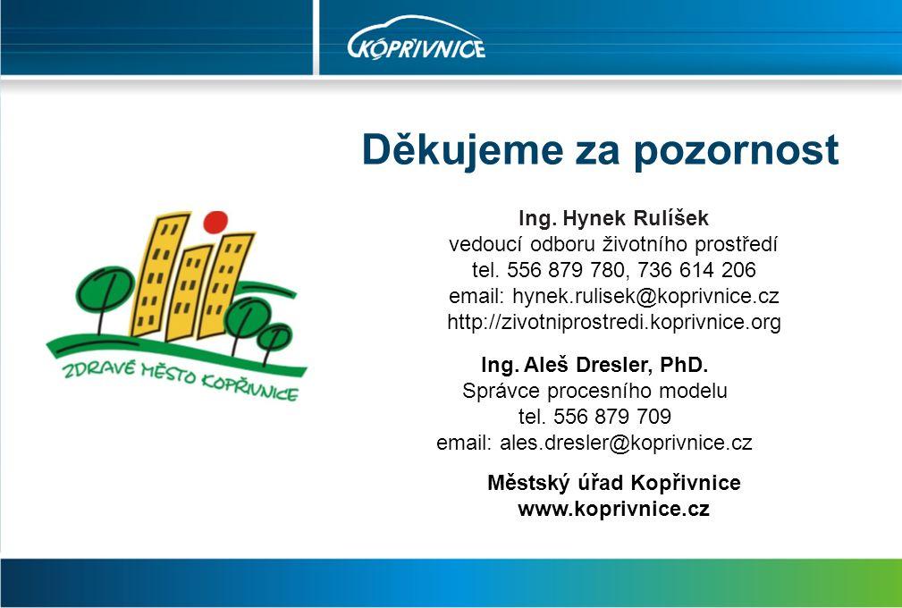 Děkujeme za pozornost Ing. Hynek Rulíšek vedoucí odboru životního prostředí tel.