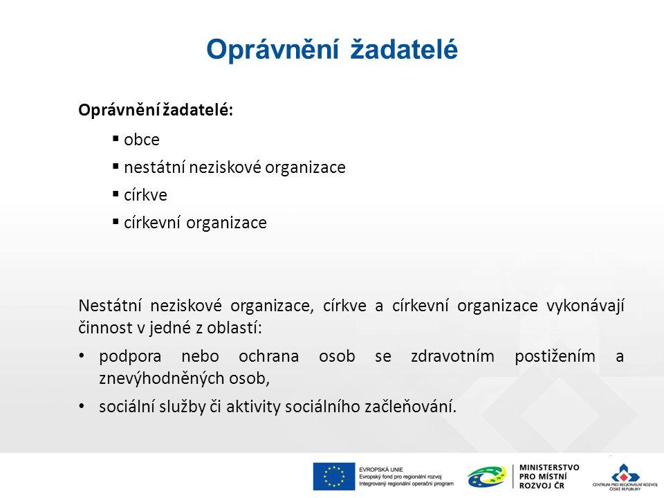 """UPOZORNĚNÍ ŘO IROP upozorňuje, že před podáním žádosti o podporu při výběru režimu podpory """"Rozhodnutí Komise o SOHZ (2012/21/EU) na záložce """"Veřejná podpora v MS 2014+, žadatel musí požádat o pověření k zajištění služeb obecného hospodářského zájmu."""