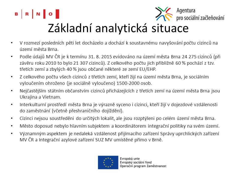 Základní analytická situace V rozmezí posledních pěti let docházelo a dochází k soustavnému navyšování počtu cizinců na území města Brna.